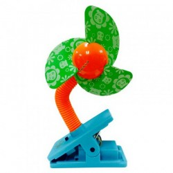 Puna Pena Clip On Fan - Green blades