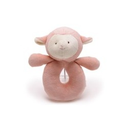 Miyim Organic Bite Rattle Doll Sheep Pink