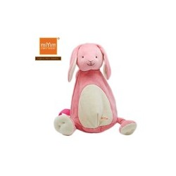 Miyim Organic Soft Toy Backpack Bunny (pink)