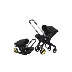 Doona Car Seat from car seat to stroller in seconds Night (Black)