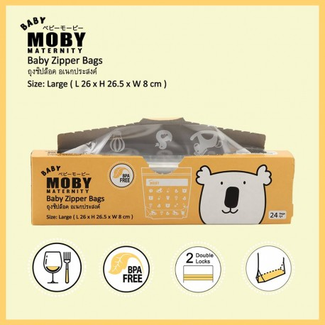 Baby Moby ถุงซิปล็อค (Zipper Bags)