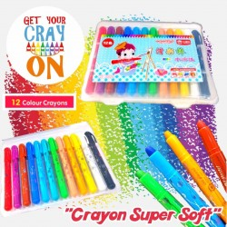 Castle of Toy Crayon Super Soft 12 สี