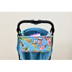 Leeya Storage Bag for Stroller - Blue Pineapple