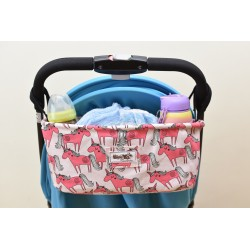 Leeya Storage Bag for Stroller - Pink Unicorn