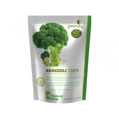 Greenday กรีนเดย์ Fruit Farm Broccoli Chips 36g.