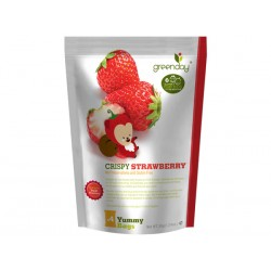 Greenday Fruit Farm Crispy Strawberry ( 4 frame wrapped in large parcels) 36g.