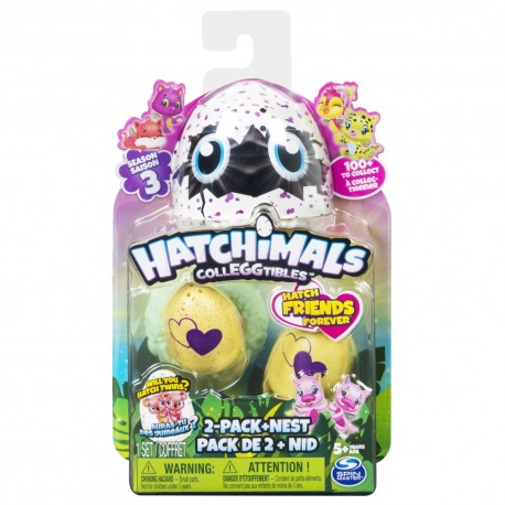 Hatchimals ของเล่น Colleggtibles 2Pk + Nest S3
