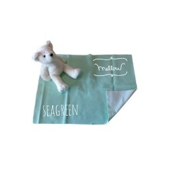 Mellow Quick dry Pee Pads, Waterproof Fabric 100% SIZE M (70x100 CM) Seagreen