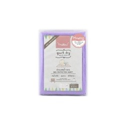 Mellow Quick dry Quick dry Pee Pads, Waterproof Fabric 100% The wings are inserted under the mattress SIZE M (70x100 CM) Lilac