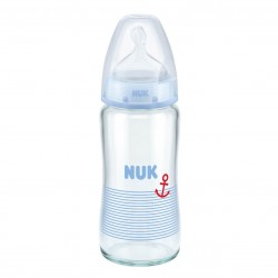 NUK Glass bottle FC+ 240ml. S1 M