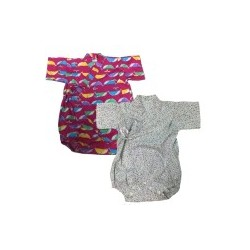 Palm & Pond Japan Style Newborn Suite JINBEI 100% Cotton 2 pack no.39