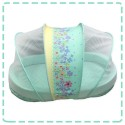 Palm & Pond Bedding with Bed Nets 100% Cotton Size Big (free Bolster Pillow) Blue