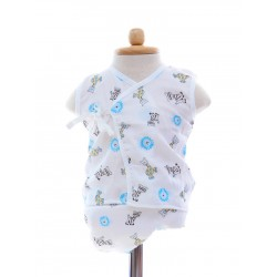 Shawn's Baby Baby Sleeveless Diaper Suite Wild catoon