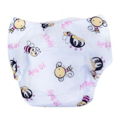 Shawn's Baby Baby Diaper Pants Pink bee cartoon