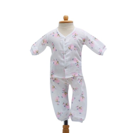 Shawn's Baby Long sleeved shirt with trousers Pink Sheep Cartoon