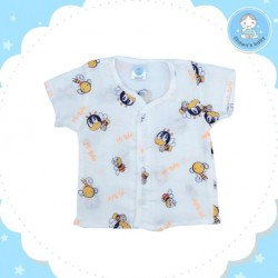 Shawn's Baby Short Sleeve Shirt Bee Cartoon (Orange)