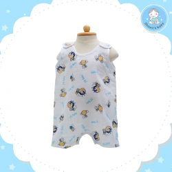 Shawn's Baby Baby Short Sleeve Body Suite Bee Cartoon (Blue)