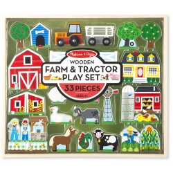 Toybies Wooden Farm & Tractor Play Set